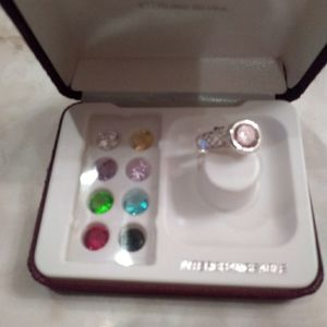 Silver interchangeable stone  Ring